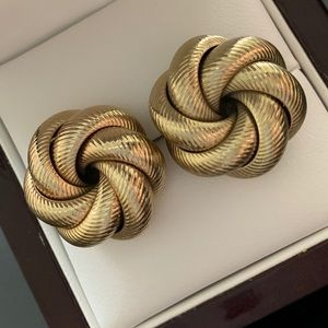 Chico's Gold-tone Knot Earrings